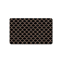 Scales1 Black Marble & Brown Colored Pencil Magnet (name Card) by trendistuff