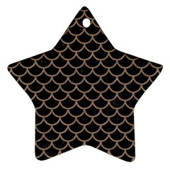 Scales1 Black Marble & Brown Colored Pencil Star Ornament (two Sides) by trendistuff