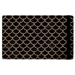 Scales1 Black Marble & Brown Colored Pencil Apple Ipad 2 Flip Case by trendistuff