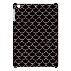 Scales1 Black Marble & Brown Colored Pencil Apple Ipad Mini Hardshell Case by trendistuff