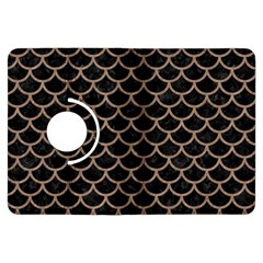 Scales1 Black Marble & Brown Colored Pencil Kindle Fire Hdx Flip 360 Case by trendistuff