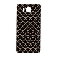 Scales1 Black Marble & Brown Colored Pencil Samsung Galaxy Alpha Hardshell Back Case by trendistuff