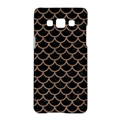 Scales1 Black Marble & Brown Colored Pencil Samsung Galaxy A5 Hardshell Case  by trendistuff