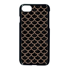Scales1 Black Marble & Brown Colored Pencil Apple Iphone 7 Seamless Case (black) by trendistuff
