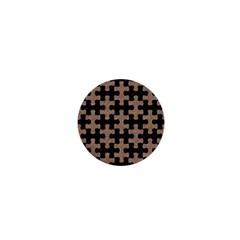 Puzzle1 Black Marble & Brown Colored Pencil 1  Mini Button by trendistuff