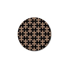 Puzzle1 Black Marble & Brown Colored Pencil Golf Ball Marker (4 Pack) by trendistuff
