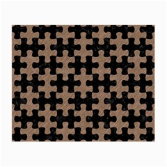 Puzzle1 Black Marble & Brown Colored Pencil Small Glasses Cloth by trendistuff