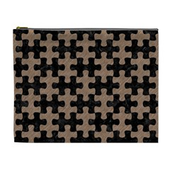 Puzzle1 Black Marble & Brown Colored Pencil Cosmetic Bag (xl) by trendistuff