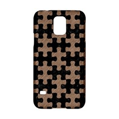 Puzzle1 Black Marble & Brown Colored Pencil Samsung Galaxy S5 Hardshell Case  by trendistuff