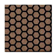 Hexagon2 Black Marble & Brown Colored Pencil (r) Tile Coaster by trendistuff