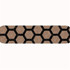 Hexagon2 Black Marble & Brown Colored Pencil (r) Large Bar Mat by trendistuff