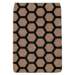 Hexagon2 Black Marble & Brown Colored Pencil (r) Removable Flap Cover (l) by trendistuff
