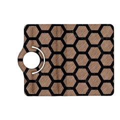 Hexagon2 Black Marble & Brown Colored Pencil (r) Kindle Fire Hd (2013) Flip 360 Case by trendistuff