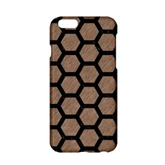 Hexagon2 Black Marble & Brown Colored Pencil (r) Apple Iphone 6/6s Hardshell Case by trendistuff