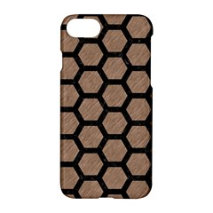 Hexagon2 Black Marble & Brown Colored Pencil (r) Apple Iphone 7 Hardshell Case by trendistuff