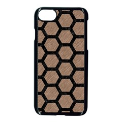 Hexagon2 Black Marble & Brown Colored Pencil (r) Apple Iphone 7 Seamless Case (black) by trendistuff