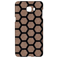 Hexagon2 Black Marble & Brown Colored Pencil (r) Samsung C9 Pro Hardshell Case  by trendistuff