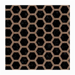Hexagon2 Black Marble & Brown Colored Pencil Medium Glasses Cloth by trendistuff