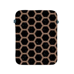 Hexagon2 Black Marble & Brown Colored Pencil Apple Ipad 2/3/4 Protective Soft Case by trendistuff