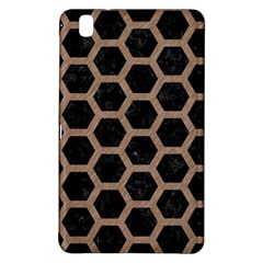 Hexagon2 Black Marble & Brown Colored Pencil Samsung Galaxy Tab Pro 8 4 Hardshell Case