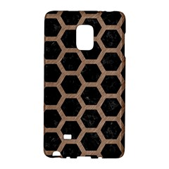 Hexagon2 Black Marble & Brown Colored Pencil Samsung Galaxy Note Edge Hardshell Case by trendistuff