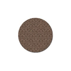 Hexagon1 Black Marble & Brown Colored Pencil (r) Golf Ball Marker (10 Pack) by trendistuff