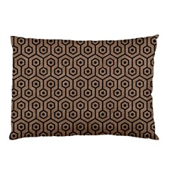 Hexagon1 Black Marble & Brown Colored Pencil (r) Pillow Case by trendistuff