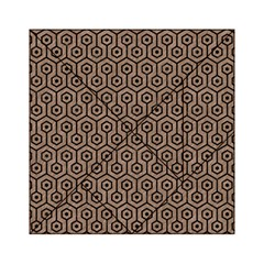 Hexagon1 Black Marble & Brown Colored Pencil (r) Acrylic Tangram Puzzle (6  X 6 ) by trendistuff