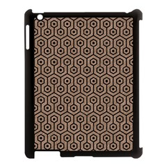 Hexagon1 Black Marble & Brown Colored Pencil (r) Apple Ipad 3/4 Case (black) by trendistuff