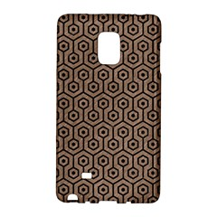 Hexagon1 Black Marble & Brown Colored Pencil (r) Samsung Galaxy Note Edge Hardshell Case by trendistuff
