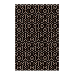 Hexagon1 Black Marble & Brown Colored Pencil Shower Curtain 48  X 72  (small) by trendistuff