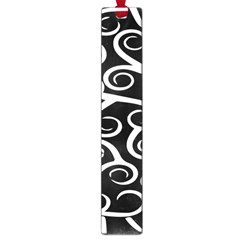 Koru Vector Background Black Large Book Marks by Mariart