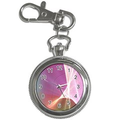Light Means Net Pink Rainbow Waves Wave Chevron Key Chain Watches by Mariart
