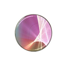 Light Means Net Pink Rainbow Waves Wave Chevron Hat Clip Ball Marker (4 Pack) by Mariart