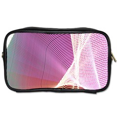 Light Means Net Pink Rainbow Waves Wave Chevron Toiletries Bags 2 Side by Mariart