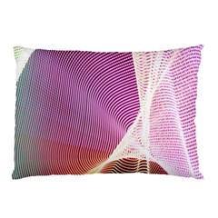 Light Means Net Pink Rainbow Waves Wave Chevron Pillow Case (two Sides) by Mariart