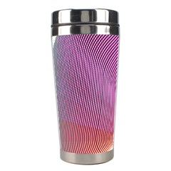 Light Means Net Pink Rainbow Waves Wave Chevron Stainless Steel Travel Tumblers by Mariart