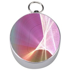Light Means Net Pink Rainbow Waves Wave Chevron Silver Compasses by Mariart