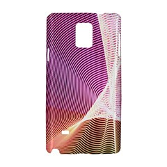 Light Means Net Pink Rainbow Waves Wave Chevron Samsung Galaxy Note 4 Hardshell Case by Mariart