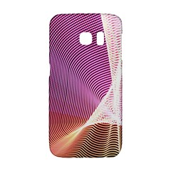 Light Means Net Pink Rainbow Waves Wave Chevron Galaxy S6 Edge by Mariart