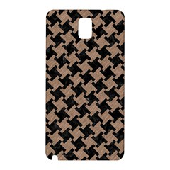 Houndstooth2 Black Marble & Brown Colored Pencil Samsung Galaxy Note 3 N9005 Hardshell Back Case by trendistuff