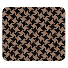 Houndstooth2 Black Marble & Brown Colored Pencil Double Sided Flano Blanket (small) by trendistuff