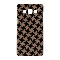 Houndstooth2 Black Marble & Brown Colored Pencil Samsung Galaxy A5 Hardshell Case  by trendistuff