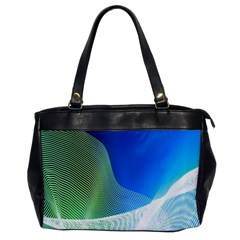 Light Means Net Pink Rainbow Waves Wave Chevron Green Blue Office Handbags by Mariart