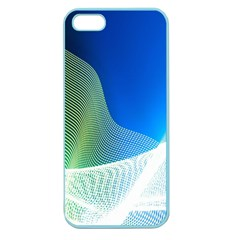 Light Means Net Pink Rainbow Waves Wave Chevron Green Blue Apple Seamless Iphone 5 Case (color) by Mariart