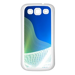 Light Means Net Pink Rainbow Waves Wave Chevron Green Blue Samsung Galaxy S3 Back Case (white)