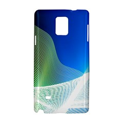 Light Means Net Pink Rainbow Waves Wave Chevron Green Blue Samsung Galaxy Note 4 Hardshell Case by Mariart