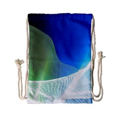 Light Means Net Pink Rainbow Waves Wave Chevron Green Blue Drawstring Bag (small) by Mariart
