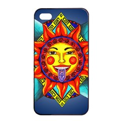 Aztec Sun Stone Apple Iphone 4/4s Seamless Case (black)
