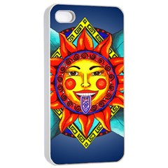 Aztec Sun Stone Apple Iphone 4/4s Seamless Case (white) by retz